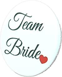AnneSvea Button - Team Bride Hochzeit JGA rot 3,8 cm