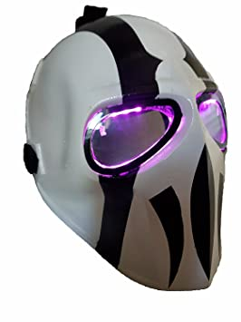 LED máscara de Airsoft ejército de dos protectora Gear deportes al aire libre Fancy Party máscaras