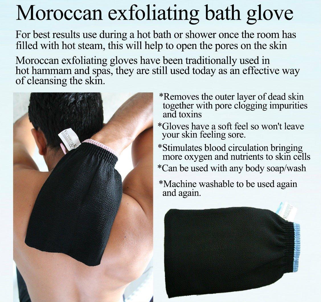 Amazon : Premium Quality Exfoliating Bath Glove Real (moroccan Hammam)  Eliminate Dry, Dead Skin  Sweetsunnah : Beauty
