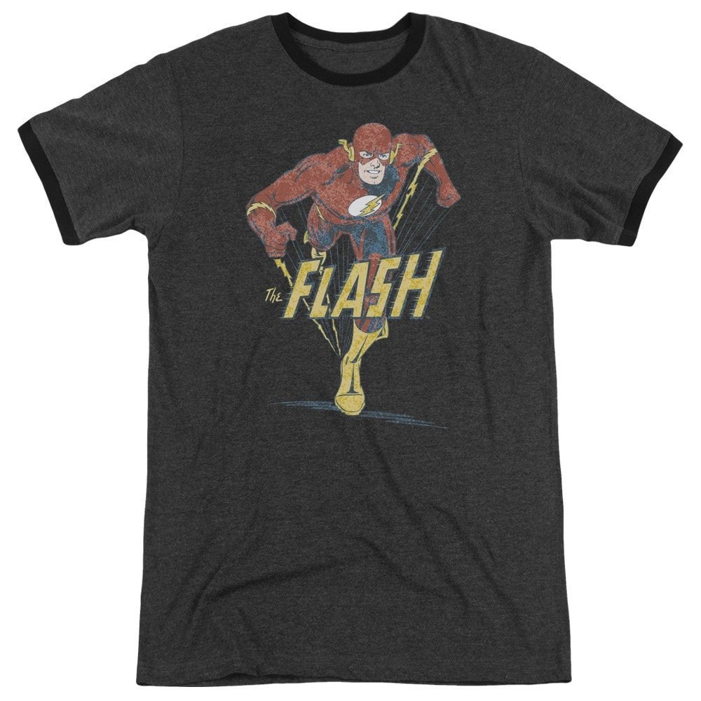 Shirt Dco Desaturated Flash Adult Ringer T