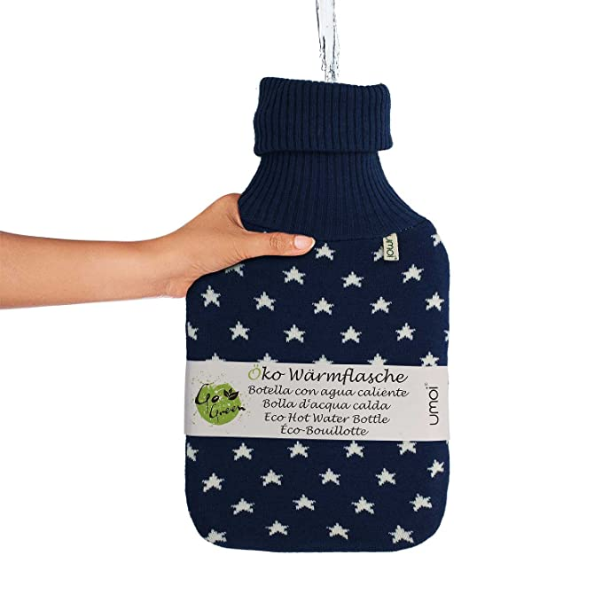Umoi - Botella de agua caliente ecológica de 2 litros tejida de alta ...