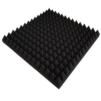 4 Platten Akustikschaumstoff Ca 50x50x5cm Anth Schwarz Schaumstoff Noppenschaum