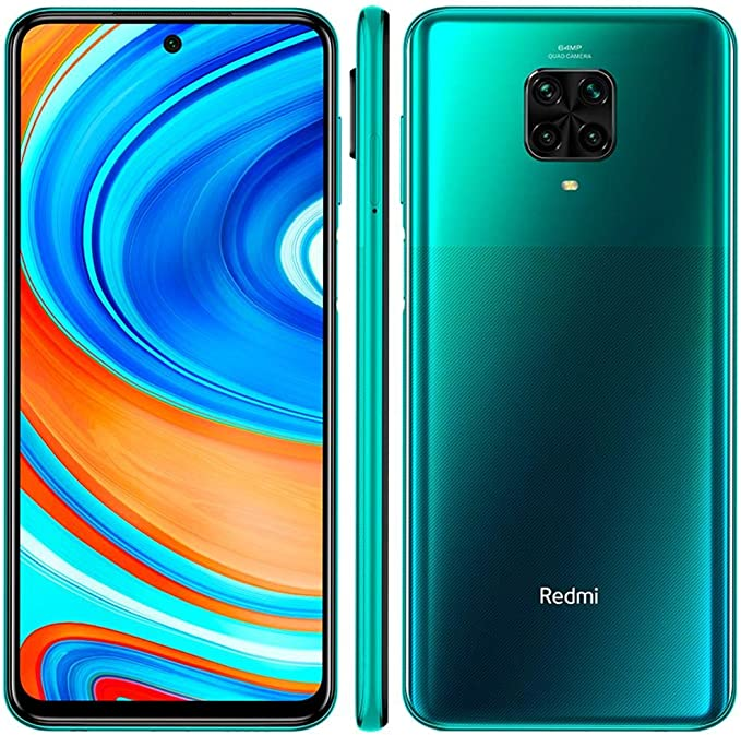 Amazon Com Xiaomi Redmi Note 9 Pro 128gb 6gb Ram 6 67 Fhd Dotdisplay 64mp Ai Quad Camera Qualcomm Snapdragon 720g Lte Factory Unlocked Smartphone International Version Tropical Green Electronics