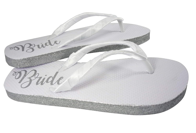 249ff530b9e3a Amazon.com: Customizable Colors Glitter Bride Sole Wedding Flip ...
