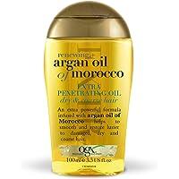 OGX Aceite de Argán de Marruecos, Extra Strength aceite penetrante, cabello dañado, gotas regeneradoras - 100 ml