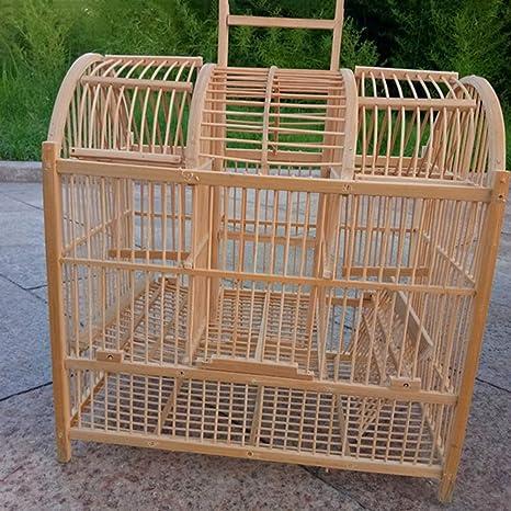 LIPETLI Jaula de Pájaros de Bambú de Molino de Viento Aves de ...