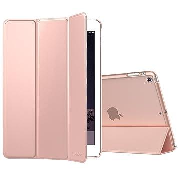 TiMOVO Funda para iPad Mini 1/2 / 3 - Ultra Slim Función de Soporte Protectora Plegable Smart Cover Transparente con Auto Sueño/Estela, Oro Rosa