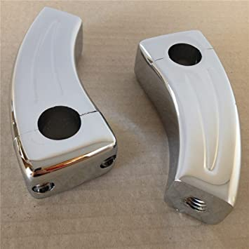 Motorcycle Handlebar Risers for Honda Shadow Spirit 750 Aero VTX 1300 C 1800N Valkyrie CHROMED SMT MOTO