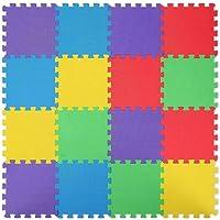 Starkhausen 16 Piece Kids Puzzle Exercise Play Mat with EVA Foam Interlocking Tiles, Safe Non-Toxic Children's…
