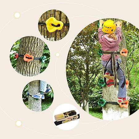 4YANG Traje para Escalar árboles Escalada en Roca 15 presas ...