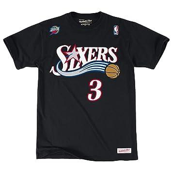 NBA Philadelphia 76ers Allen Iverson # 3 hombres de nombre & número camiseta (pequeño)