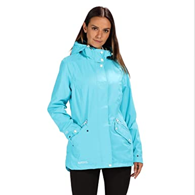 Regatta Basilia Waterproof and Breathable Hooded Outdoor Chaqueta, Mujer