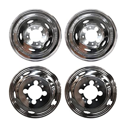 Amazon.com: D/B 4pcs Front+Rear Polished Stainless Steel 17 ...