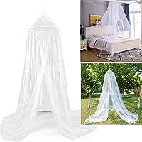 Myggnät säng, vitt myggnät för resor och hem, stort myggnät dubbelsäng enkelsäng inkl. monteringsmaterial, finmaskigt…