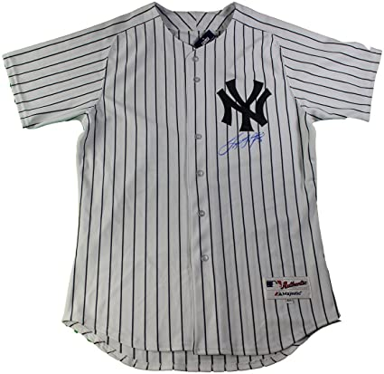 ec54aaa4ddf Image Unavailable. Image not available for. Color  Tino Martinez Signed New  York Yankees  24 Authentic Pinstripe Jersey (Signed In Front)