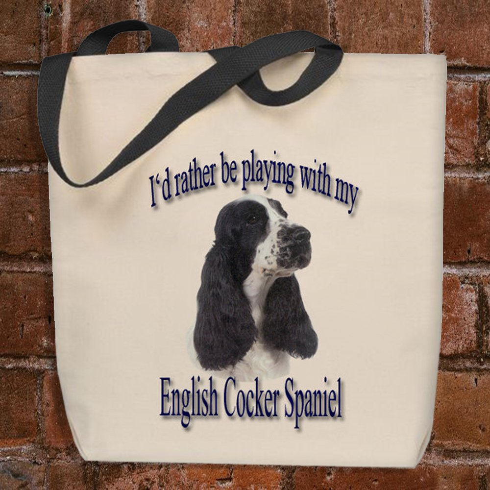 I'd Rather Be Playing With My English Cocker Spaniel - Tote Bag by Strum Hollow