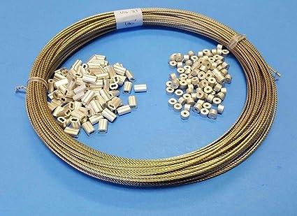 Amazon.com: Cable de cuerda de alambre de acero inoxidable ...