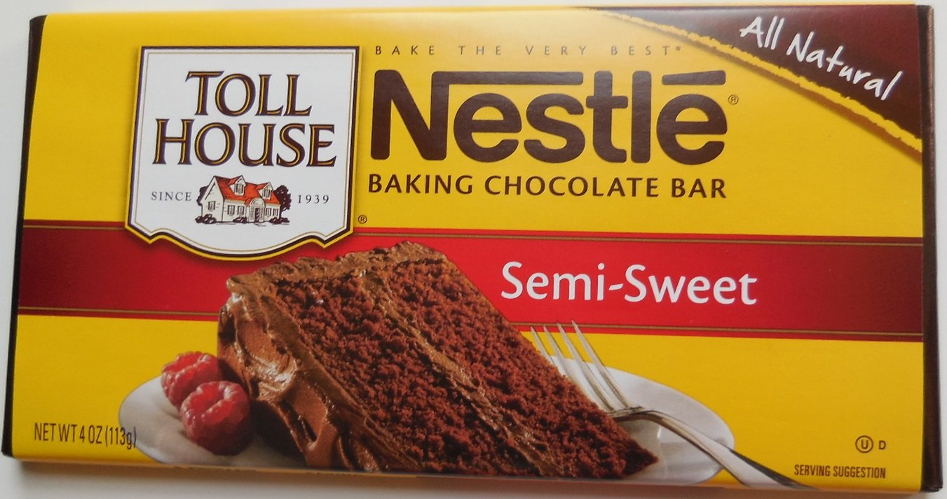 Amazon.com : Nestle Baking Chocolate Bar Semi-sweet 3 Bars ...