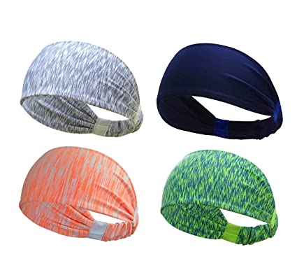 fd18d9f2f715 Thinspire Sports Headband Running Headband Athletic Moisture Wicking Headband  Yoga Cycling Sport Fitness Headband Workout Wide Stretchy Elastic Non Slip  ...