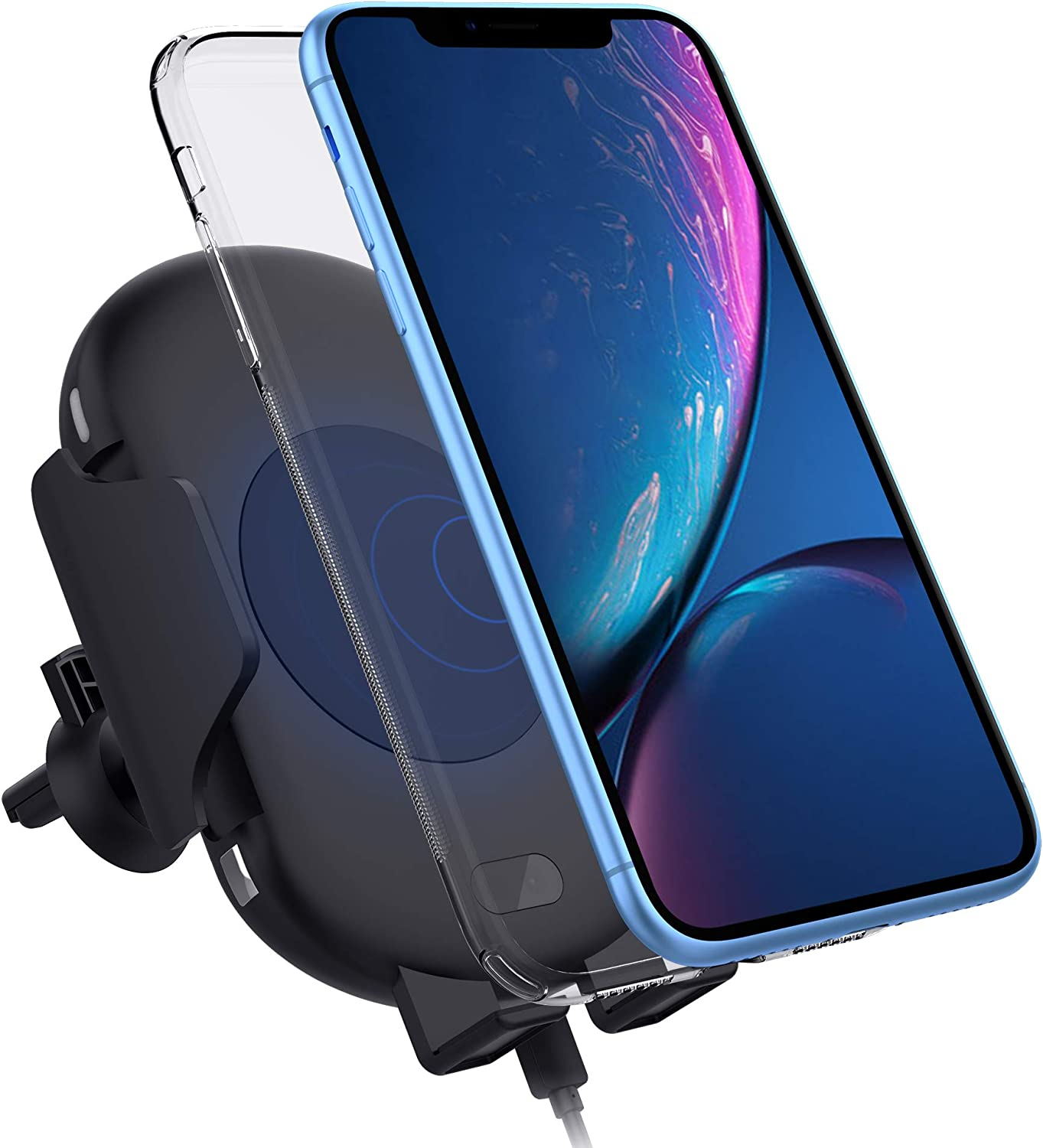 Galaxy Note 9//S9//S8//S8 Plus//S7 Infrared Motion Sensor Compatible with iPhone Xs//XS MAX//XR//X//8//8 Plus Zttopo Automatic Wireless 10W Fast Charging Air Vent Phone Holder Qi Wireless Car Charger Mount