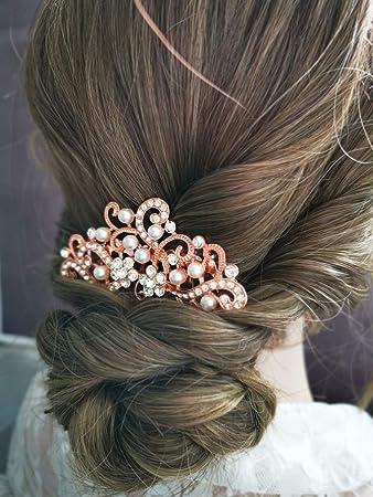 Amazon Com Aegenacess Wedding Hair Decorative Comb Rhinestones