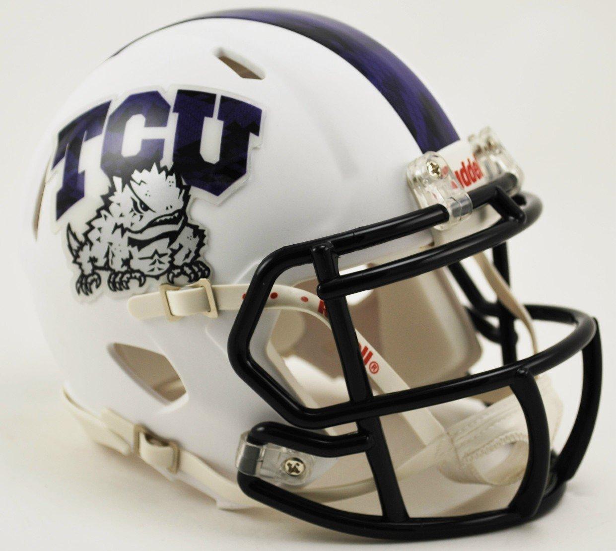 TCU Texas Christian University Riddell Speed Mini Football Helmet 2015 Frog Skin New in Riddell Box
