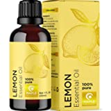 Lemon Essential Oil Therapeutic Grade Aromatherapy for Diffuser - 100% Pure Cold Pressed Undiluted Oil for Stress…