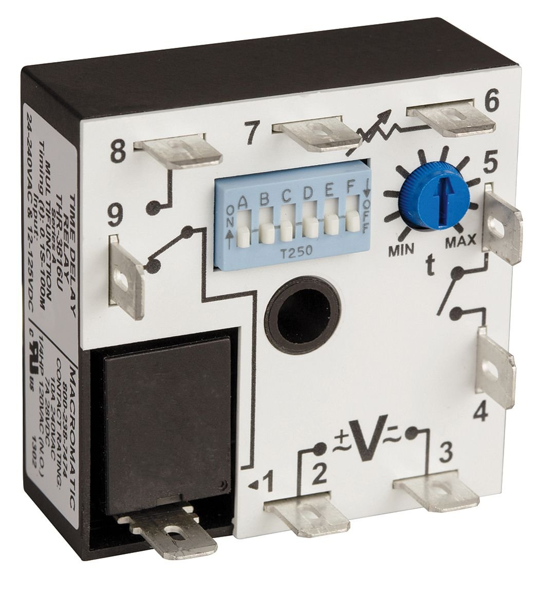 MACROMATIC ARP120A3R Alternating Relay,DPDT,120VAC,10A,8 Pin