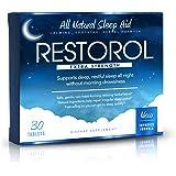 Restorol   Natural Sleep Aid – Relief from Jet Lag & Sleep Deprivation – Regulate Sleep Cycle – Get Restful Sleep (30ct)