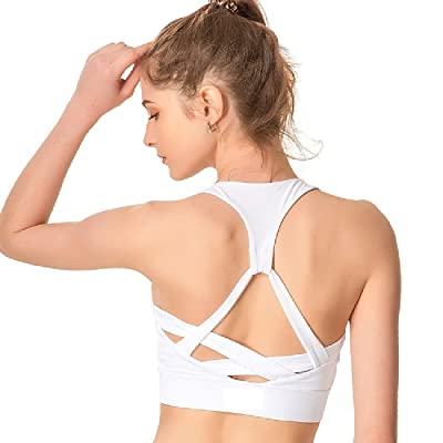 ANDYOU-Women Beauty Back Athletic Yoga Sports Dry-Fit Push-Up Sports Bra Top