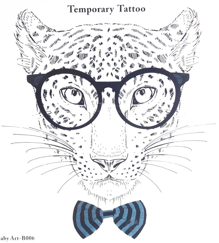 Tatuajes falsos venta caliente moda señorías leopardo con cristal ...