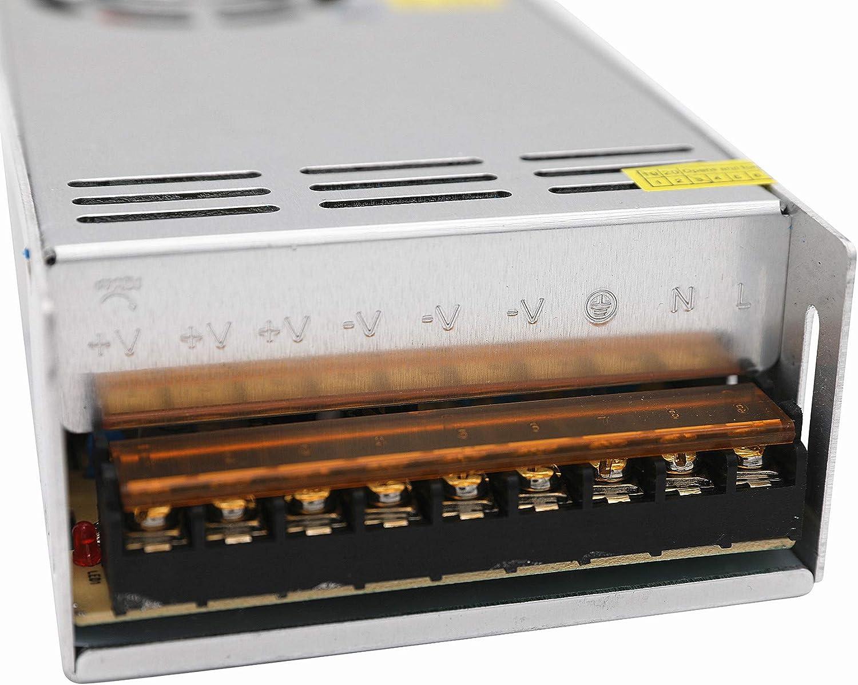 Daxpoo Tira De Led Fuente De Alimentaci/ón 5v Voltio 300W Raya Transformador Iluminaci/ón Controlador Dc Adaptador PS300-DP5