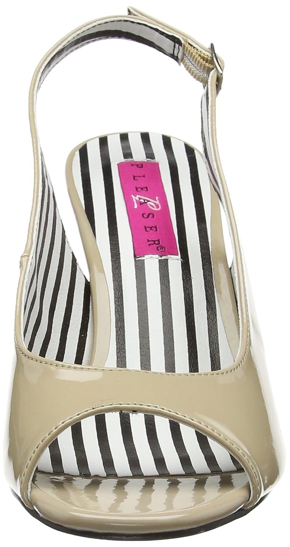 Pleaser Rosa Label Damen Jenna-02 Slingback Pumps Pumps Pumps Beige (Cream Pat) 42 EU b2fe22