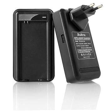 Aukru® Cargador de batería Adaptador para Samsung Galaxy S5 SV SM-G900 i9600 (EU Plug Cargador de Pared USB Puerto (Negro)