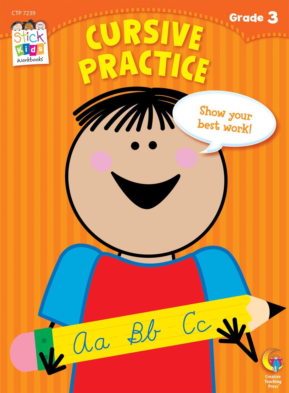 Download Cursive Practice Stick Kids Workbook, Grade 3 (Stick Kids Workbooks) pdf