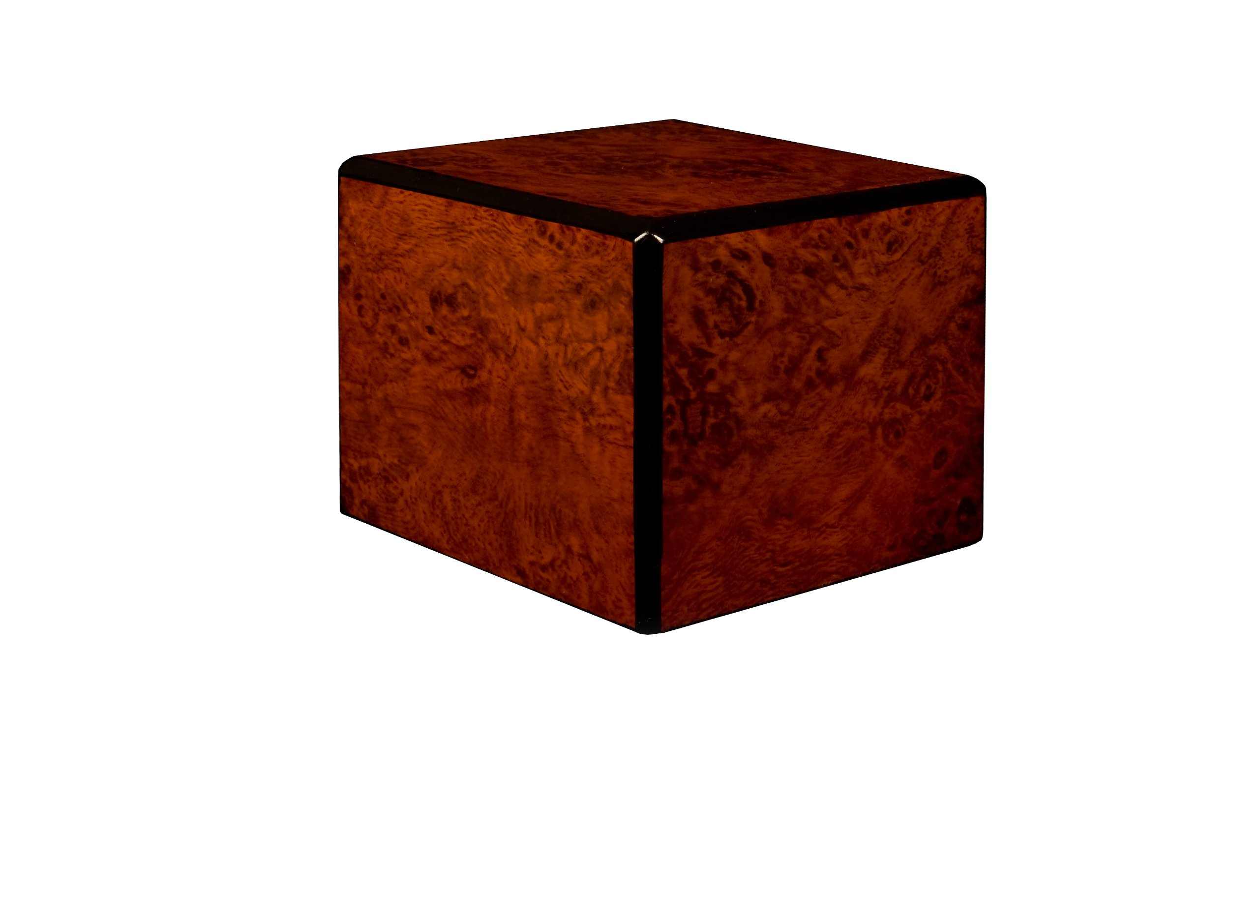 Chateau Urns Society Collection, Wood Urn, Pet Urn, Extra Small cremation Urn, Burl wood finish
