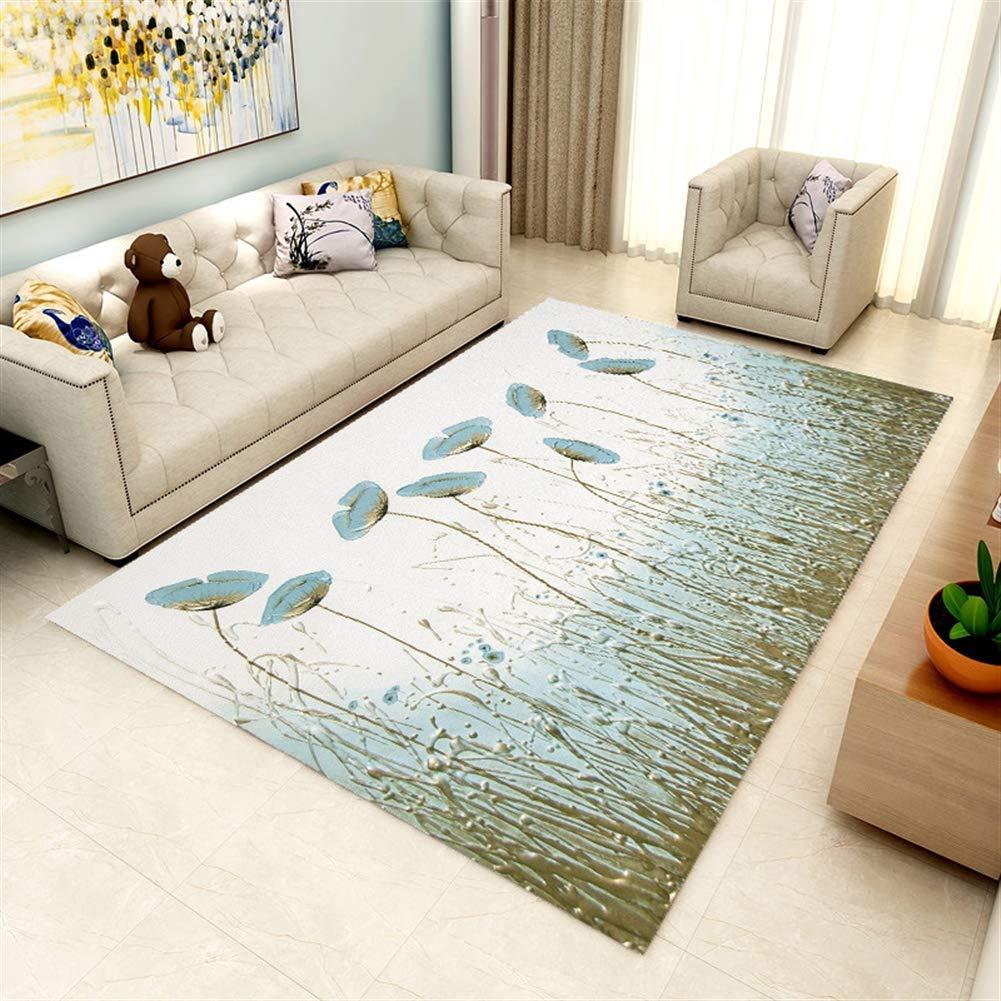 Ommda Teppiche Wohnzimmer Blaume Digitales Drucken Kurzflor Teppich Antirutsch Abwaschbar Farbeful 160x230cm B07J5C6WXH Teppiche