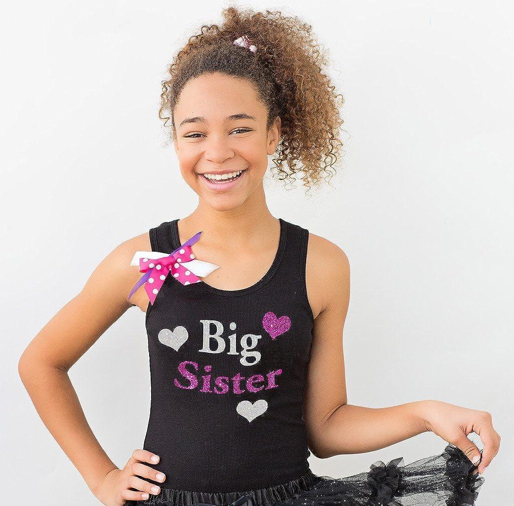 Bubblegum Divas Big Girls Big Sister Shirt Tank Top Love Hearts