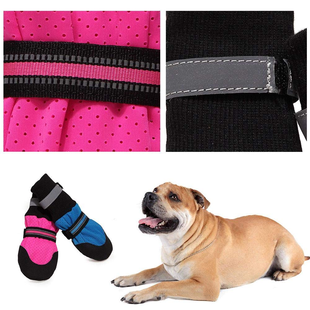 Paw Protector Dog Boots Pack of 4 Stop Licking Wound Protection Dog Shoes for Dogs Breathable Dog Hiking Boots