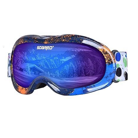 Parts & Accessories New Kids Boy Girl Ski Goggles Unisex Anti Fog Spherical Wide View Snow Snowboard