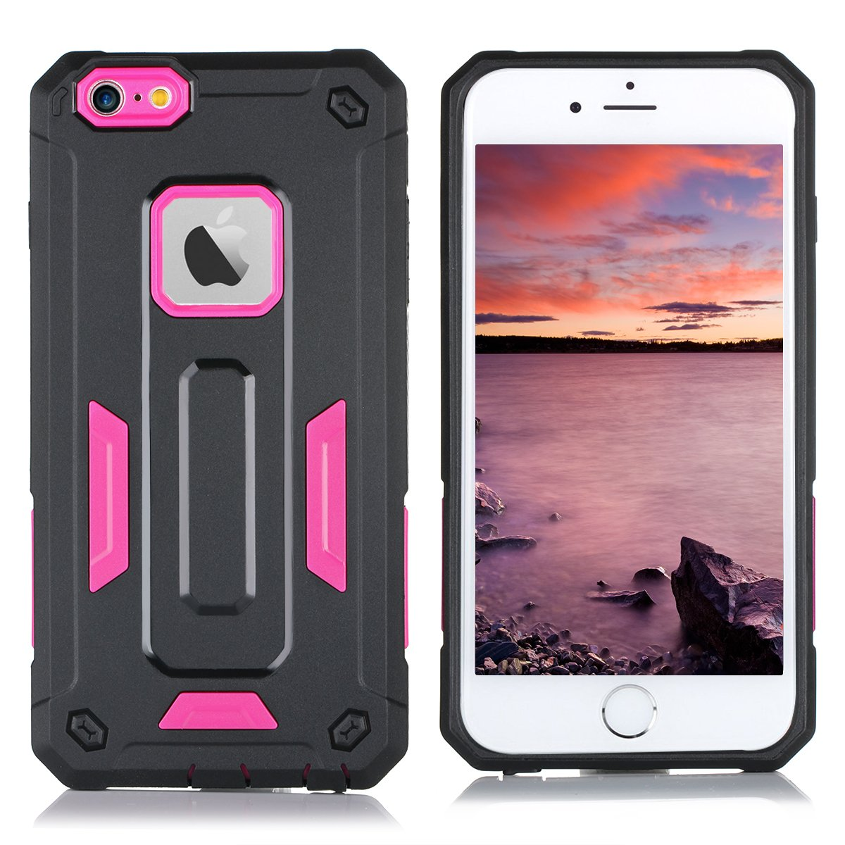 Iphone 6s Case 6 Bentoben 2 In 1 Dual 2in1 Gravity Full Cover Tempered Glass For Plus Layer Hybrid Hard Pc Soft Tpu Bumper Cool Shockproof Anti Scratch Body Protective