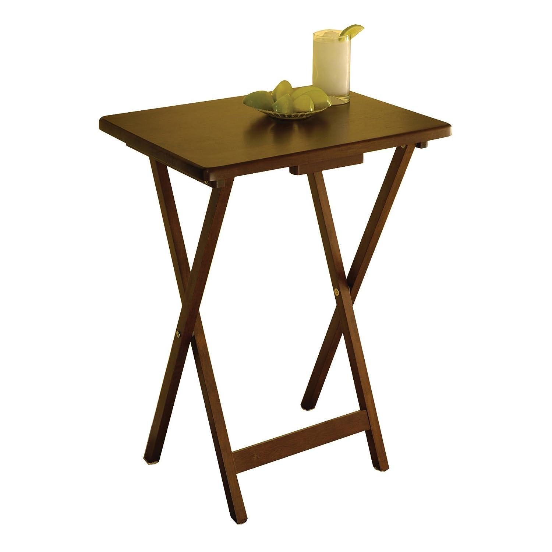Amazon.com: Winsome Wood Single TV Tables, Rectangular, Walnut, Set Of 4:  Kitchen U0026 Dining