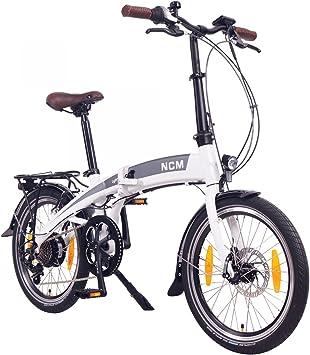 NCM Lyon Bicicleta eléctrica Plegable, 250W, Batería Dentro del ...