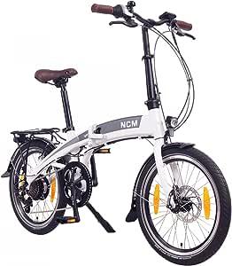 """NCM Lyon Bicicleta eléctrica Plegable, 250W, Batería Dentro del Cuadro 36V 8Ah 288Wh, 20""""…"""