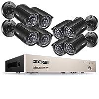 ZOSI CCTV Kit de Cámara Seguridad 8CH 1080N Grabador DVR + (8) 2MP Cámara Bala Exterior, sin HDD, Visión Nocturna, Detección de Movimineto, Acceso Remoto