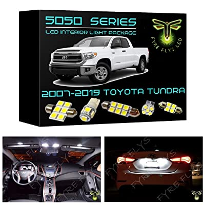 Fyre Flys 18 Piece White LED Interior Lights for 2007-2020 Toyota Tundra 6000K 5050 Series SMD Package Kit and Install Tool: Automotive
