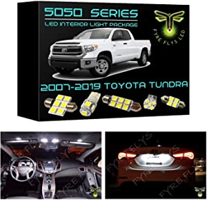 Fyre Flys 18 Piece White LED Interior Lights for 2007-2019 Toyota Tundra 6000K 5050 Series SMD Package Kit and Install Tool