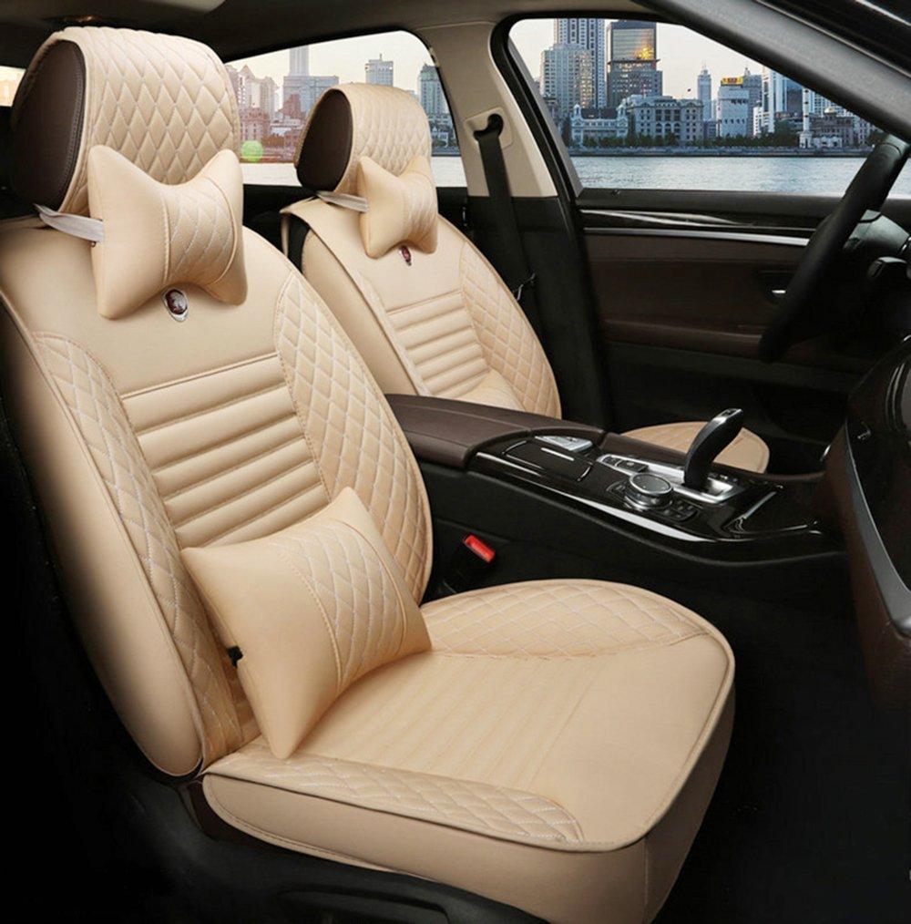 WillMaxMat [2011-2017 ランドローバーEvoque] 運転席 助手席 後部座席 車用シートカバー 防水 環境保護レザー - ベージュ B077M48C5X Beige Beige