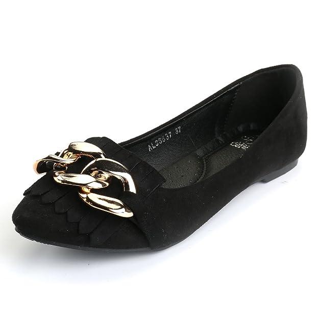 Alexis Leroy Modern Spitze Weiche Slipper Schuhe Damen Knoten Ballerinas