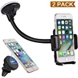 Car mount. Piqiu 2 Pack Magnetic Air Vent Car Phone Holder Cradle and Dashboard/ Windshield Universal Phone Kickstand for iPhone 7 7 Plus/ 6s Plus/6s/6Samsung Lg Sony and Smartphone Cell Phone